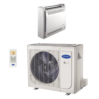 Performance™ Residential Ductless Floor Console Heat Pump System Model: 38MAQ/40MBF