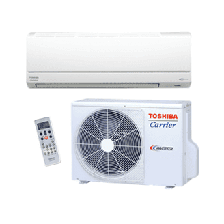 Toshiba Carrier Residential Ductless Highwall Heat Pump System with Base Pan Heater Model: RAS-EAV2/EKV