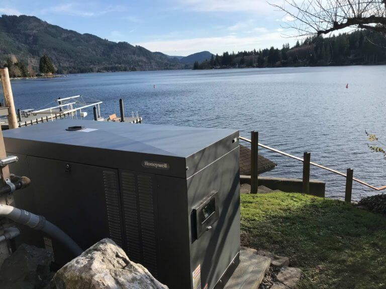 Honeywell Whole Home Liquid-Cooled Generator | Lake Samish, WA