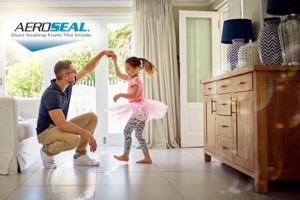 image-with-aeroseal-logo-and-man-playing-with-little-girl-dancing