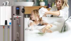 water-heater-image-with-mom-bathing-daughter-in-background